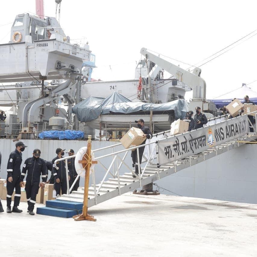 Kapal Perang India INS Airavat L24 yang telah berlabuh di Pelabuhan Tanjung Priok