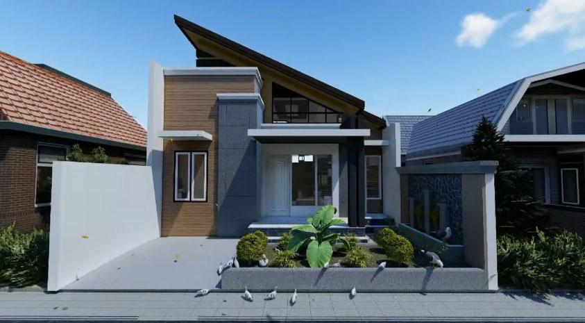 Rumah keren 7 x 7 m