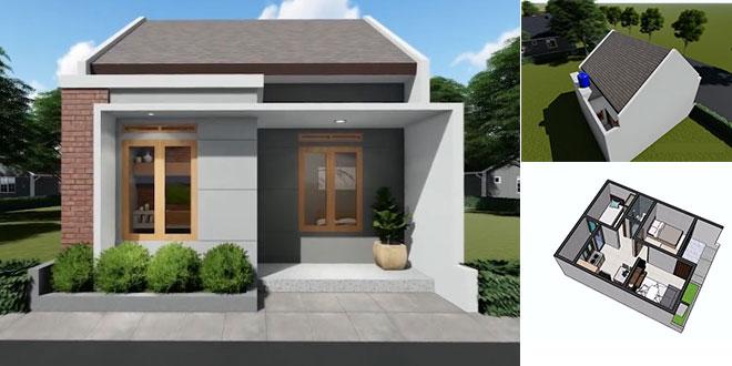 45 Desain Rumah Minimalis Ukuran 6 X 9 Meter Terpopuler Lingkar Png